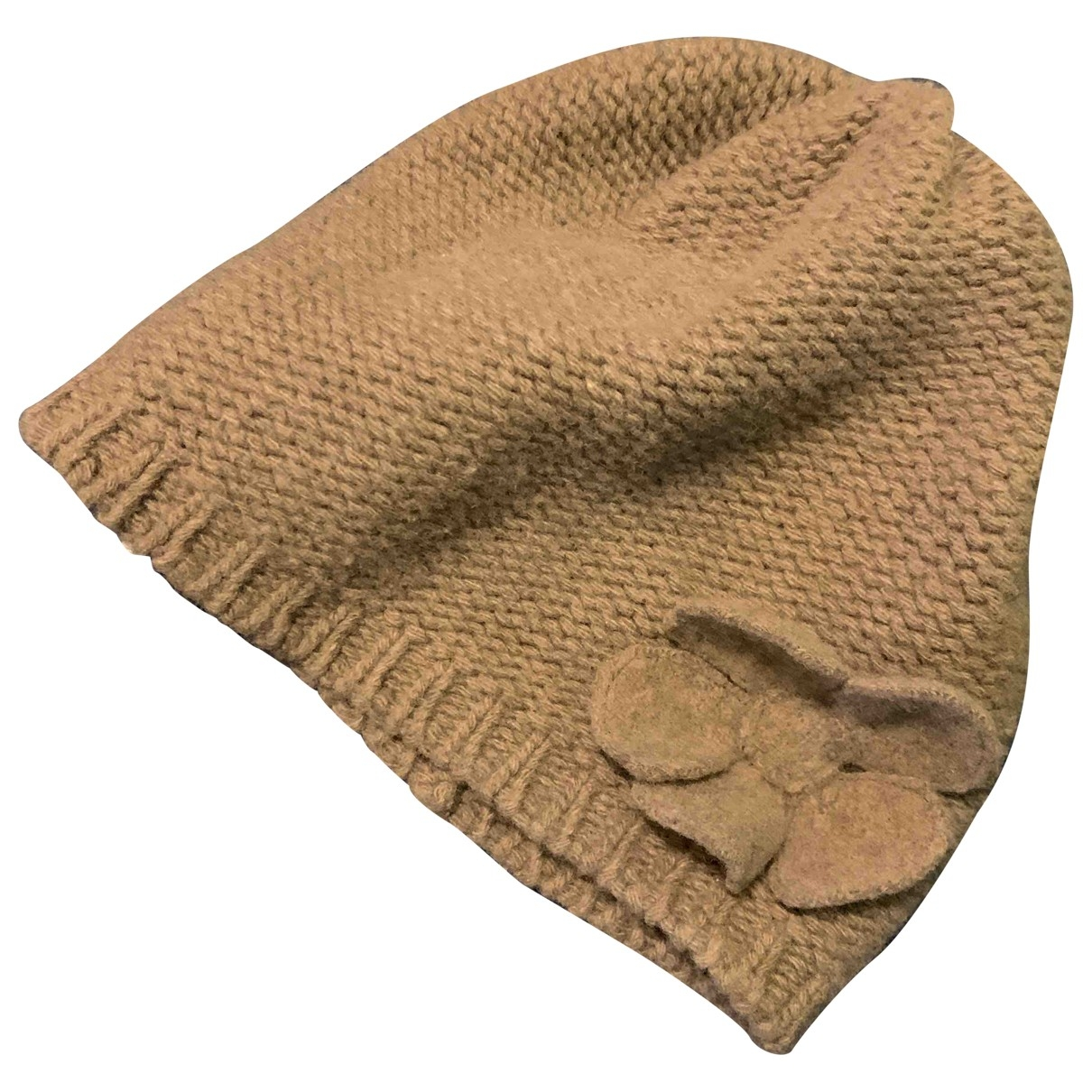 Non Signé / Unsigned \N Grey Wool hat & Gloves for Kids \N