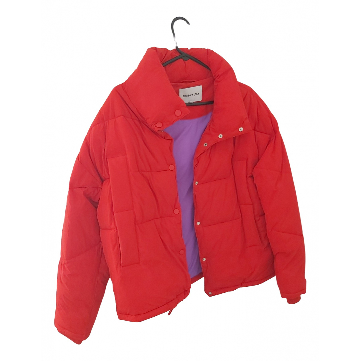 Bimba Y Lola \N Red Leather jacket for Women 38 FR
