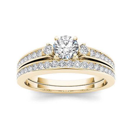 1 CT. T.W. Diamond 14K Yellow Gold Bridal Set, 9 , No Color Family