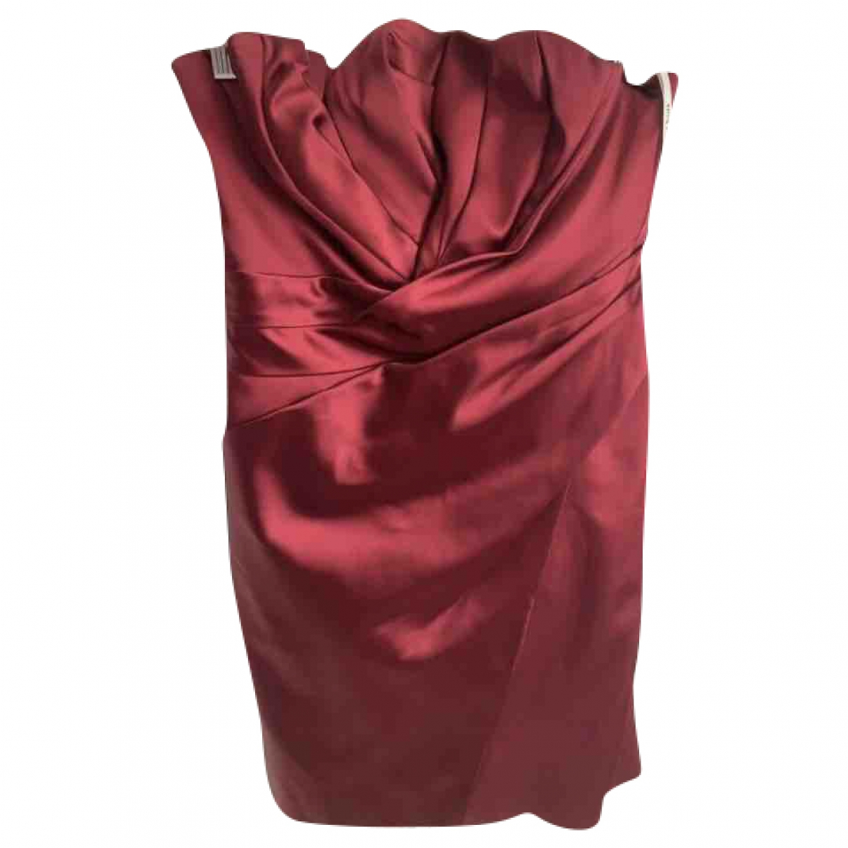 Karen Millen \N Burgundy Silk dress for Women 14 UK