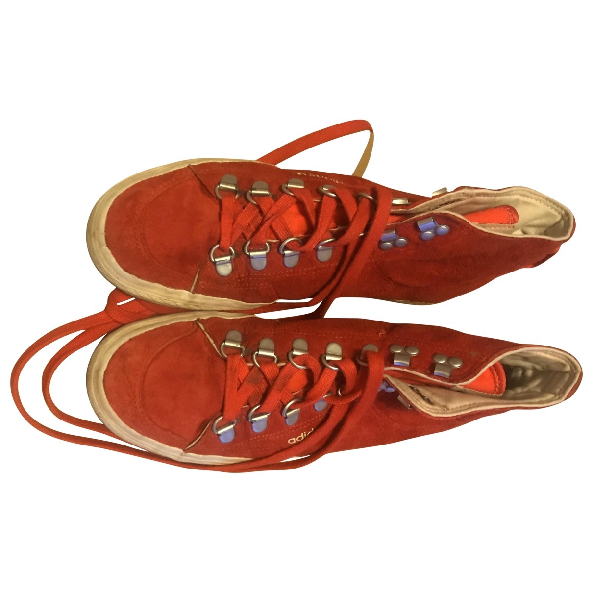 Adidas \N Red Suede Trainers for Women 6 UK