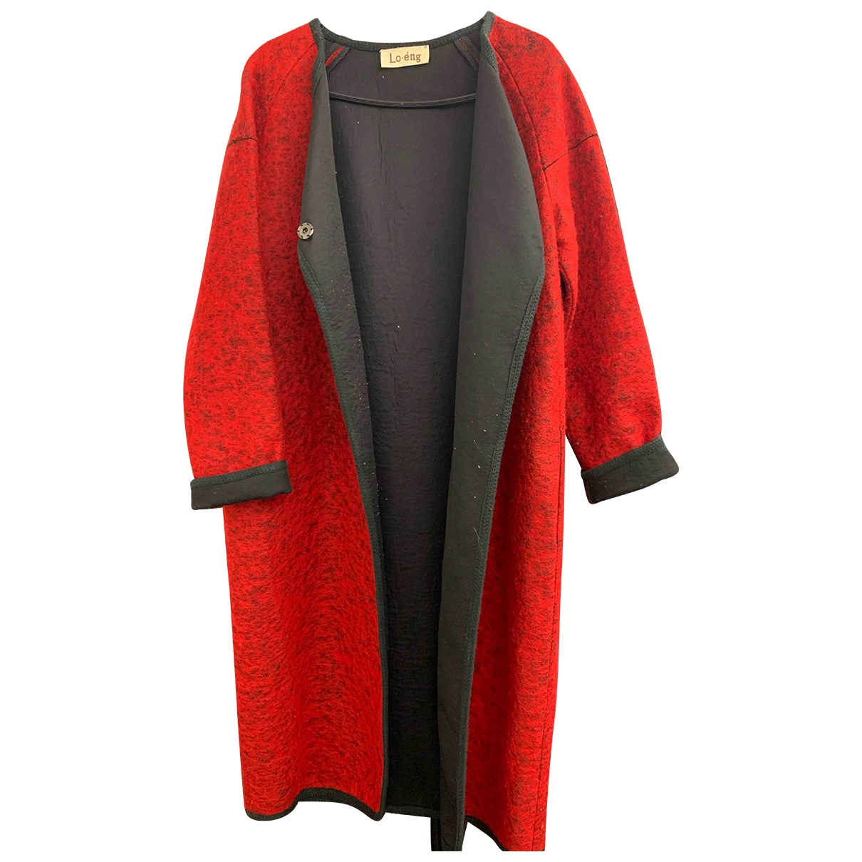 Non Signé / Unsigned Oversize Red Cotton coat for Women M International