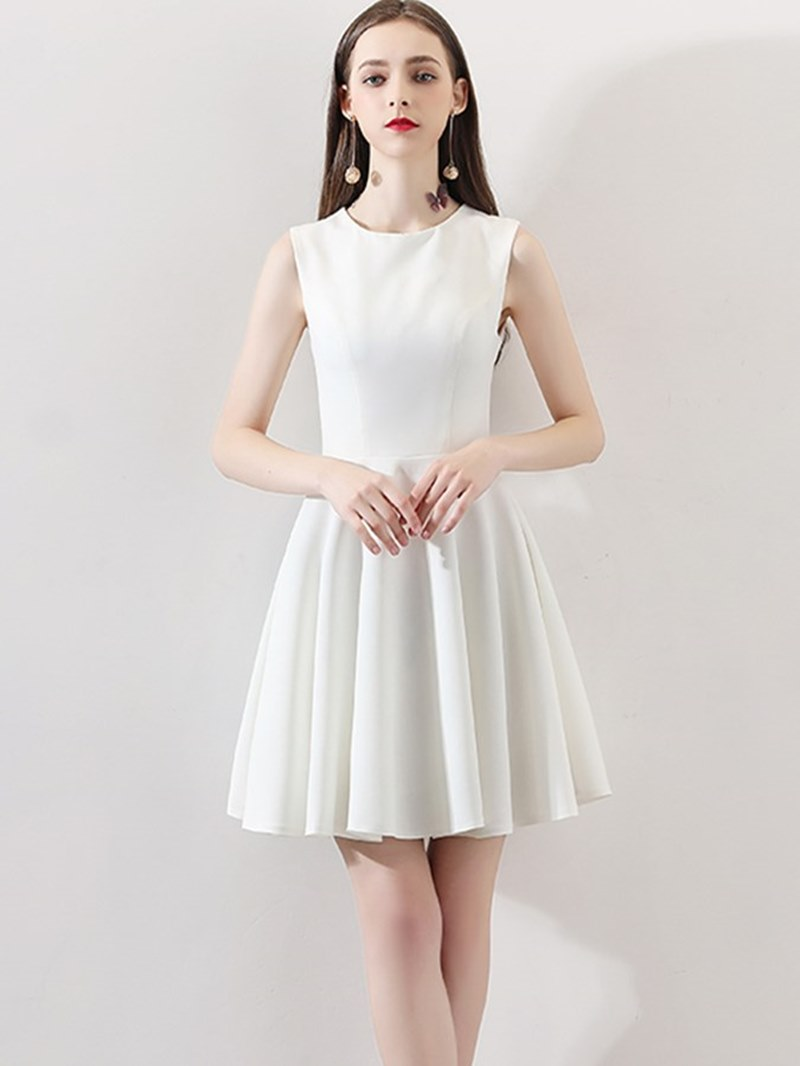 Ericdress Short A Line Homecoming White Dress