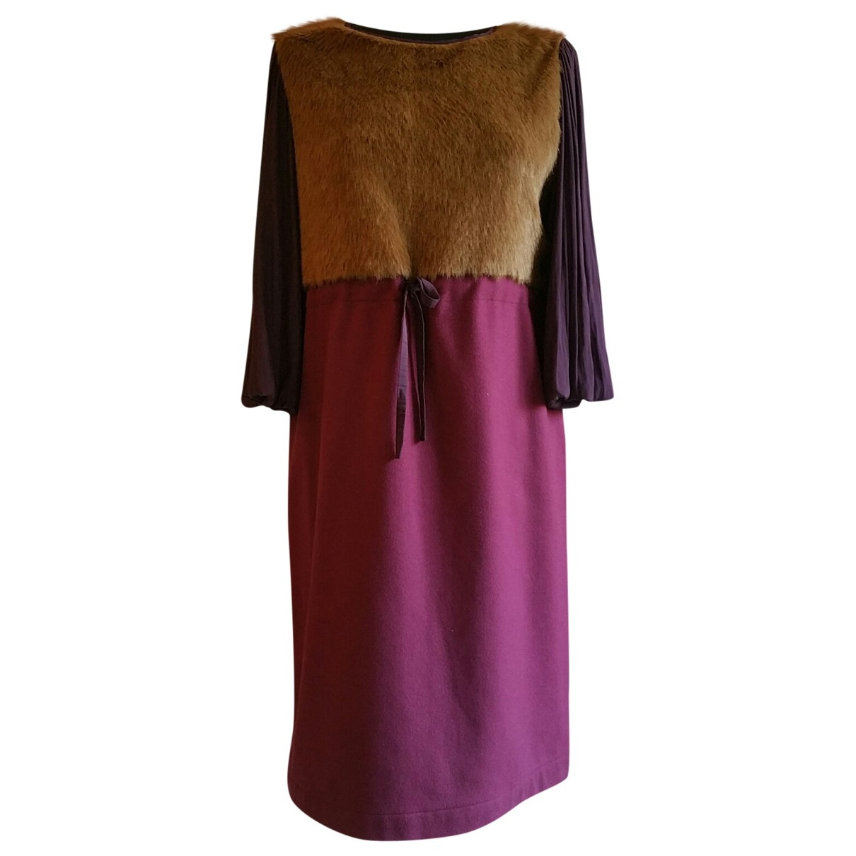 Non Signé / Unsigned \N Multicolour Wool dress for Women 42 IT