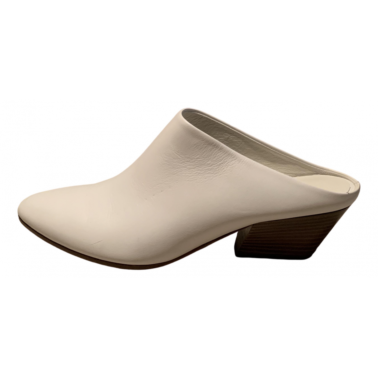 Vince \N White Leather Mules & Clogs for Women 6 UK