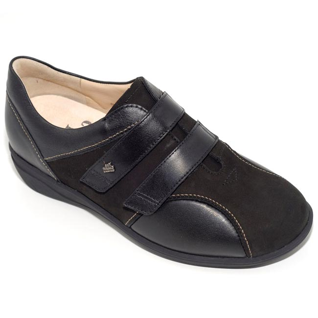 Finn Comfort Luttich Black Nubuck Soft Footbed 85 Uk