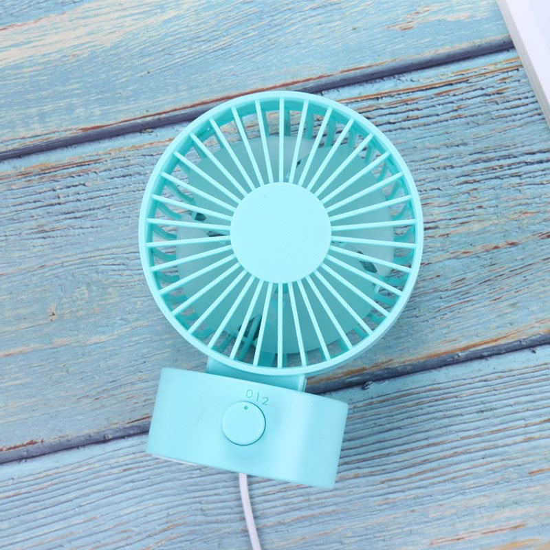 Cute and Quiet Mini USB Strong Airflow Dual Fan Blade Portable Fan