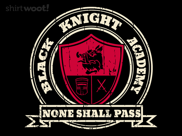 Black Knight Academy T Shirt