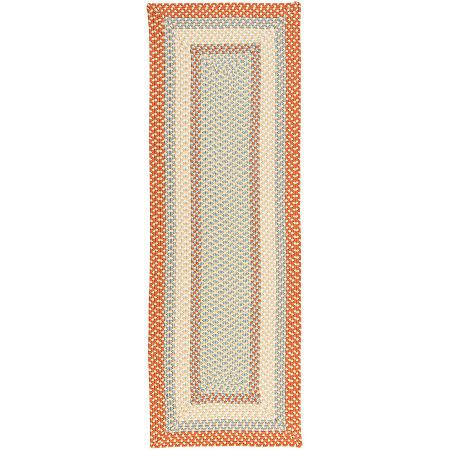 Colonial Mills Montego Reversible Braided Indoor/Outdoor Runner Rugs, One Size , Orange