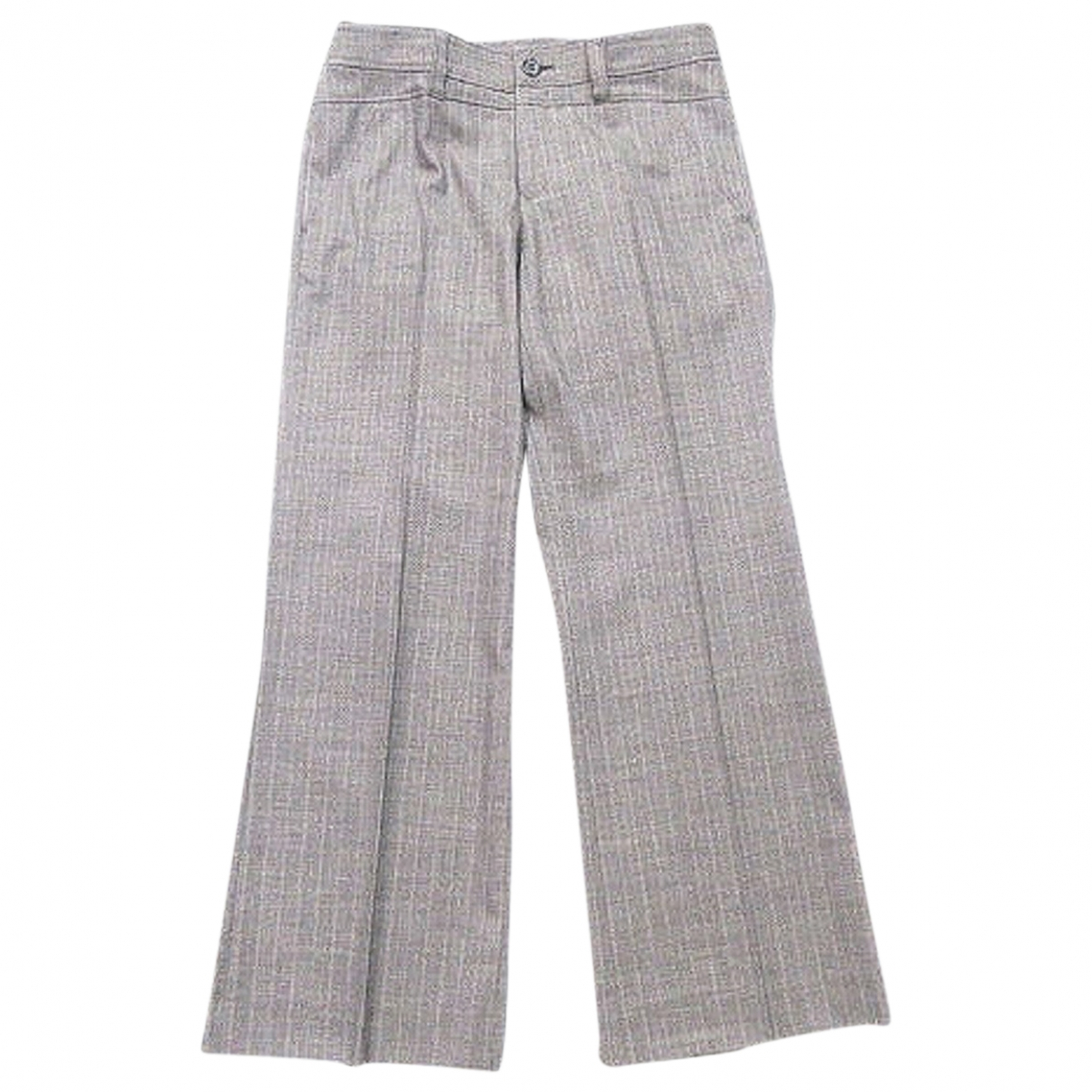 Non Signé / Unsigned \N Grey Wool Trousers for Women S International