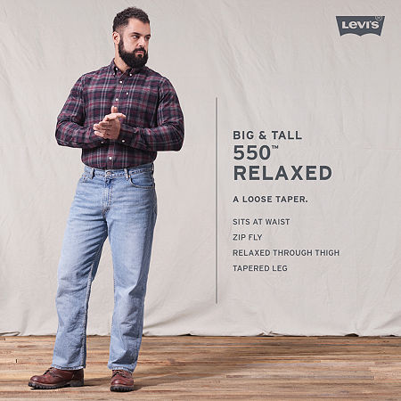 Levi's 550 Relaxed Fit Jeans-Big & Tall, 56 30, Blue
