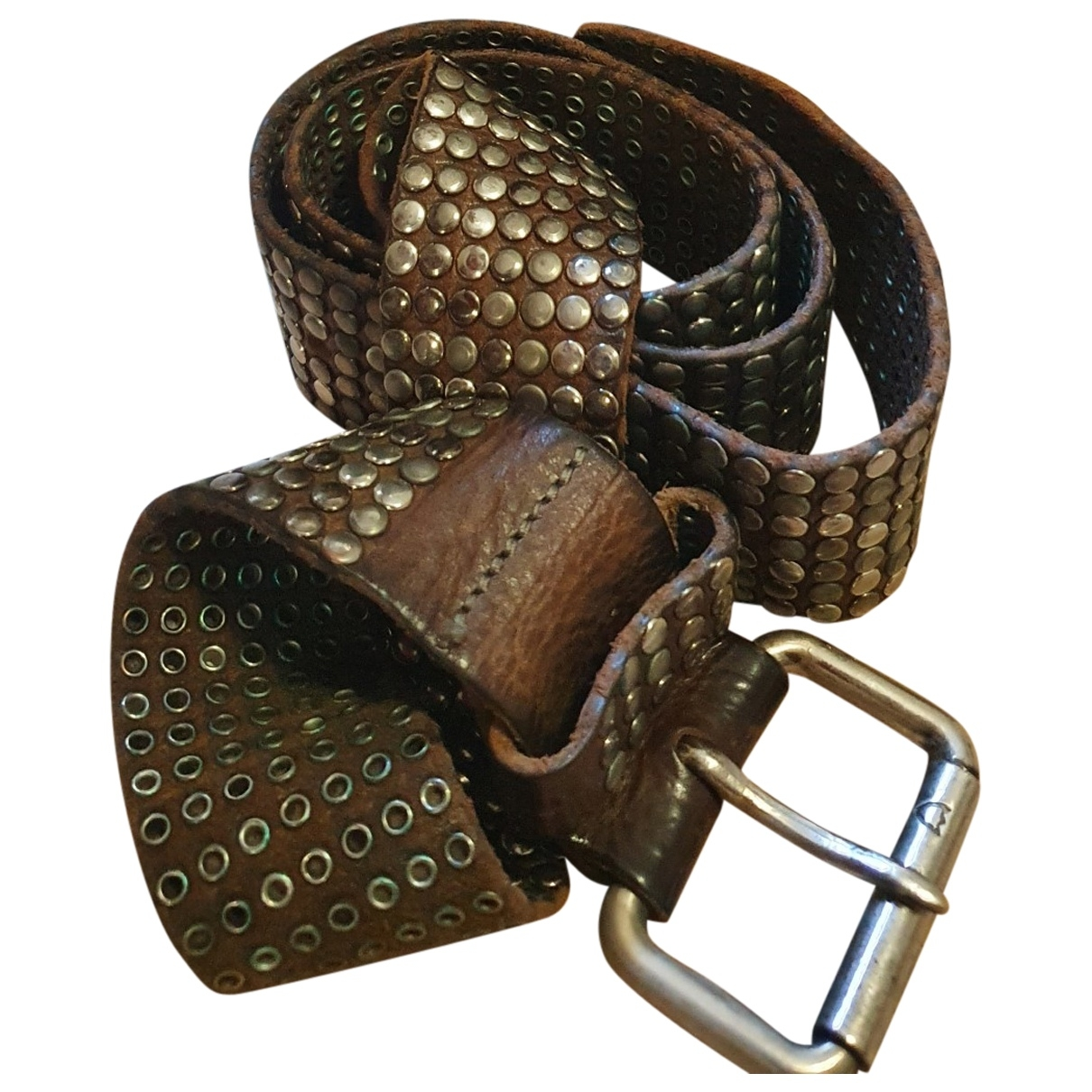 Htc \N Brown Leather belt for Women M International
