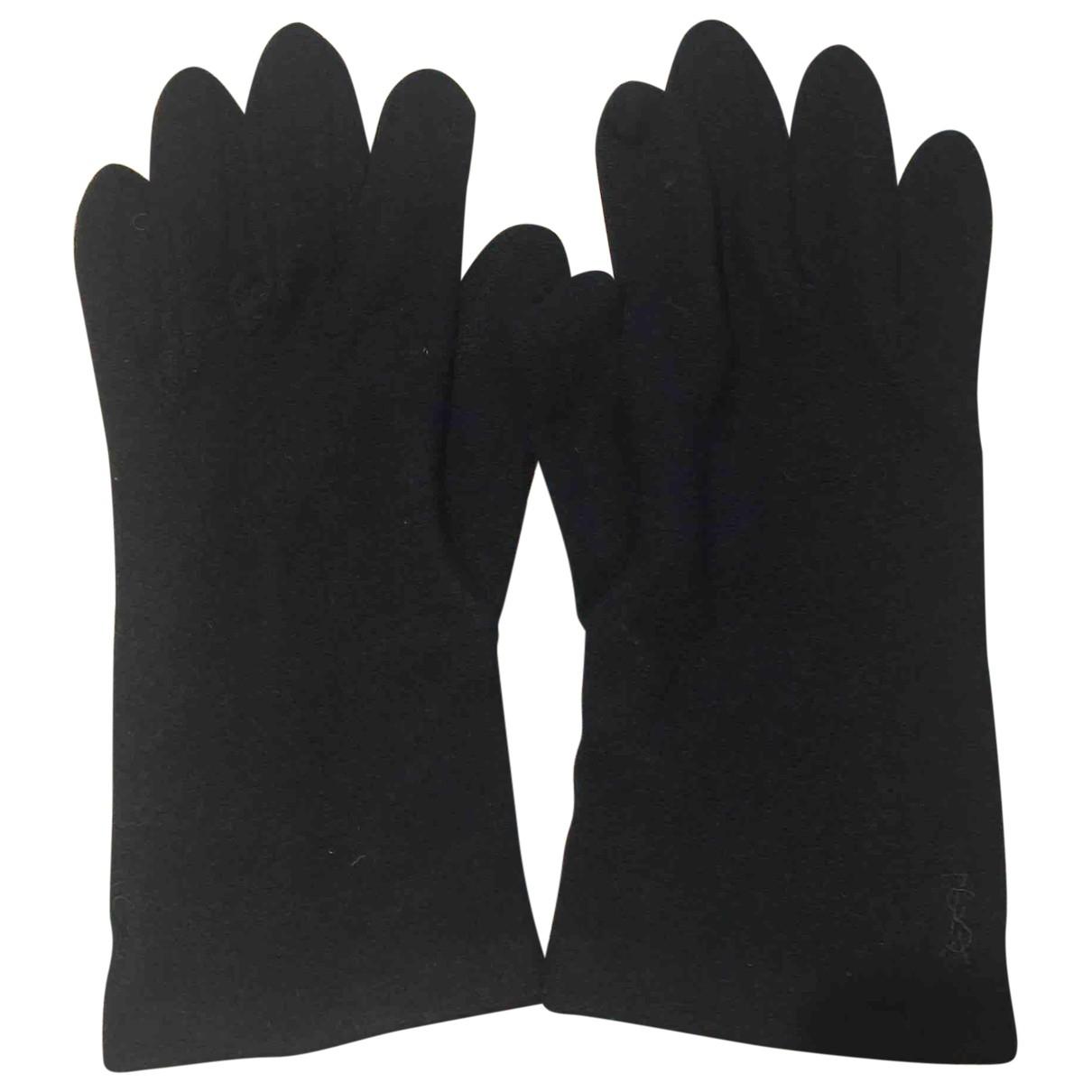 Yves Saint Laurent \N Black Cashmere Gloves for Women M International