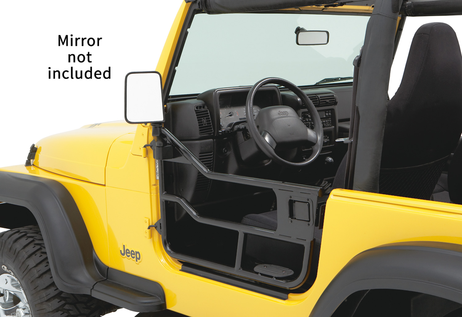 Bestop 51809-01 Satin Black Element Doors Jeep Wrangler 1997-2006