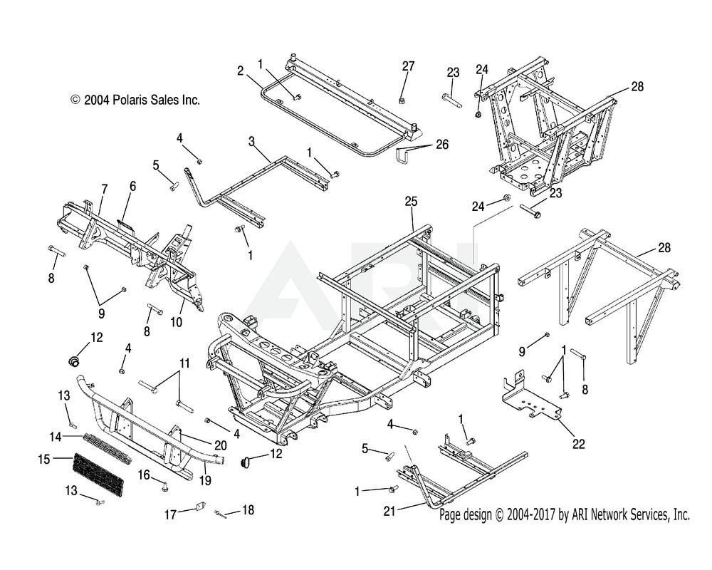Polaris OEM 5245329-067 Plate, Grille, Bumper, Upper, Black   [If built before 6/20/04](AA)
