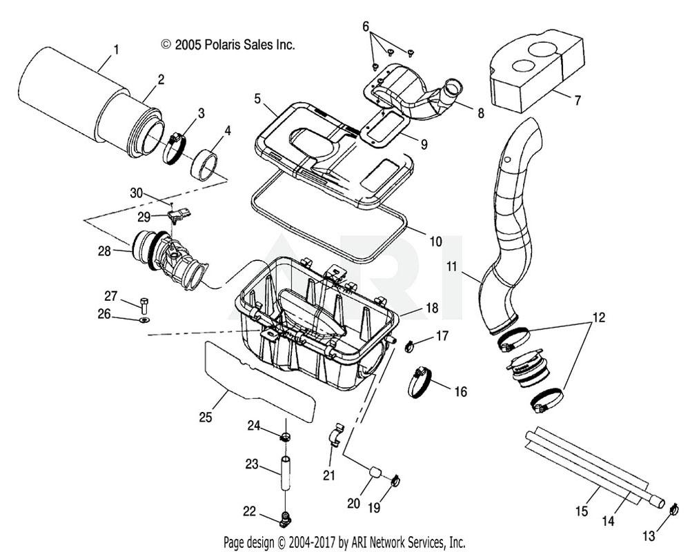 Polaris OEM 5412518 Boot, Throttle Body | [If built before 9/26/05]