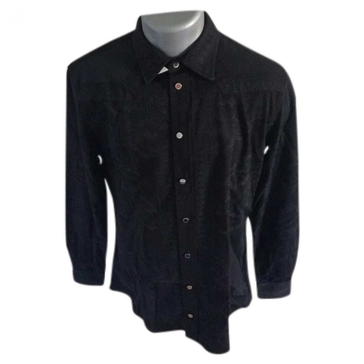 Versace \N Black Cotton Shirts for Men M International