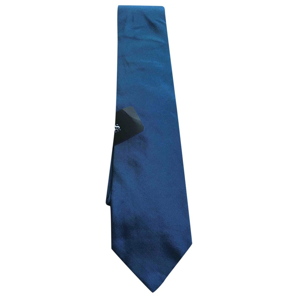 Boss \N Blue Silk Ties for Men \N