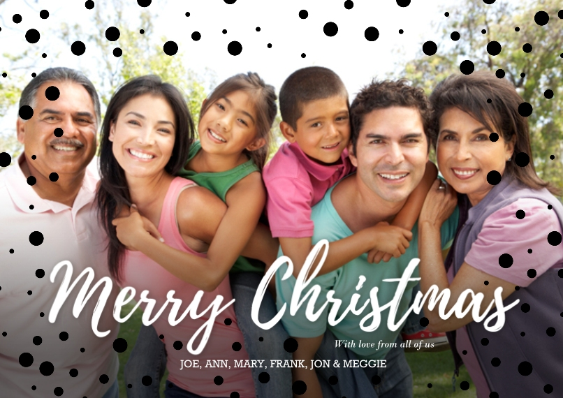 Christmas Photo Cards Set of 20, Premium 5x7 Foil Card, Card & Stationery -Merry Christmas Glitter