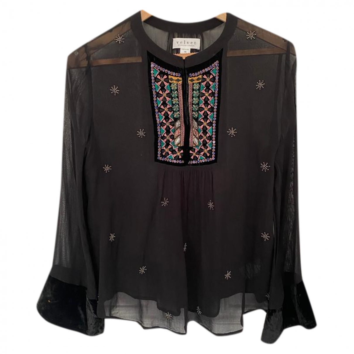 Velvet \N Black  top for Women XS International