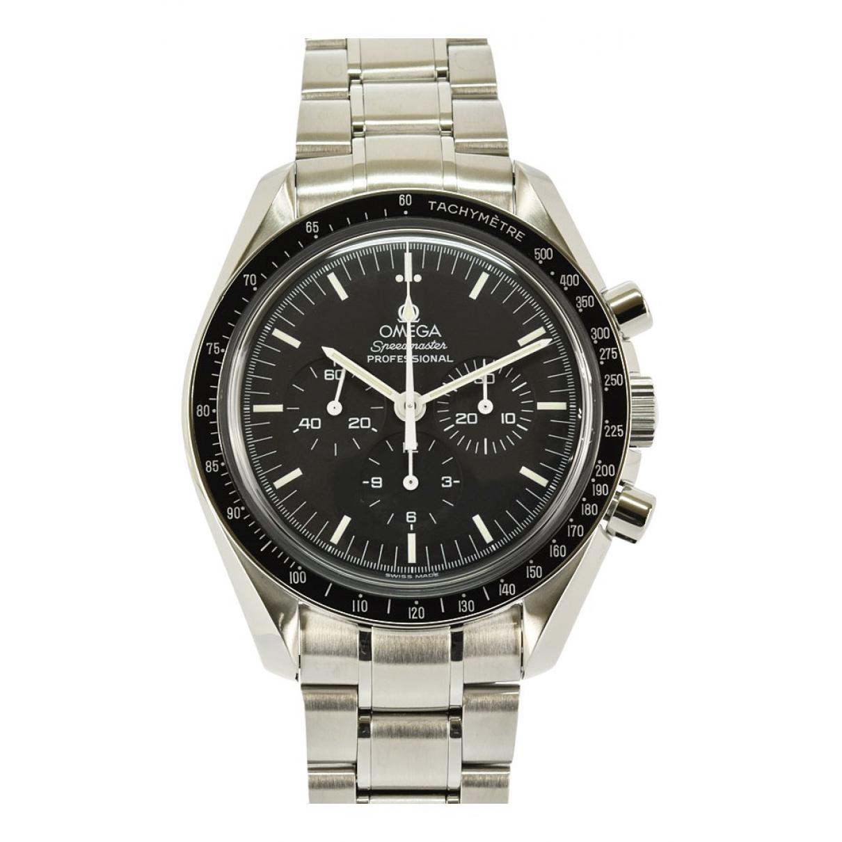 Omega Speedmaster Black Steel watch for Men \N