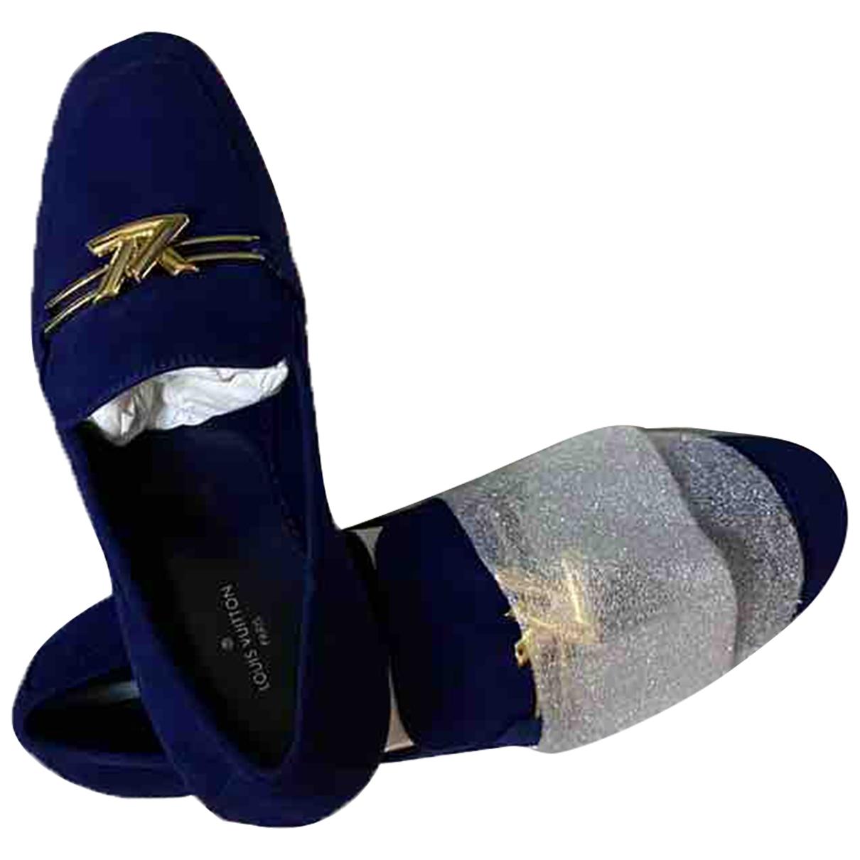 Louis Vuitton \N Blue Velvet Flats for Women 37 EU