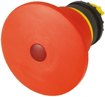 Eaton Mushroom Iluminated Red Emergency Stop Push Button - Latching, M22 Series, 22mm Cutout, Round
