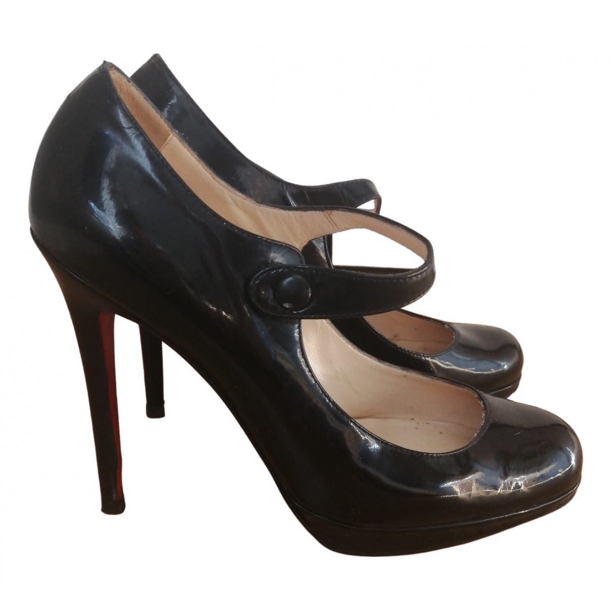 Christian Louboutin \N Black Patent leather Heels for Women 38 EU
