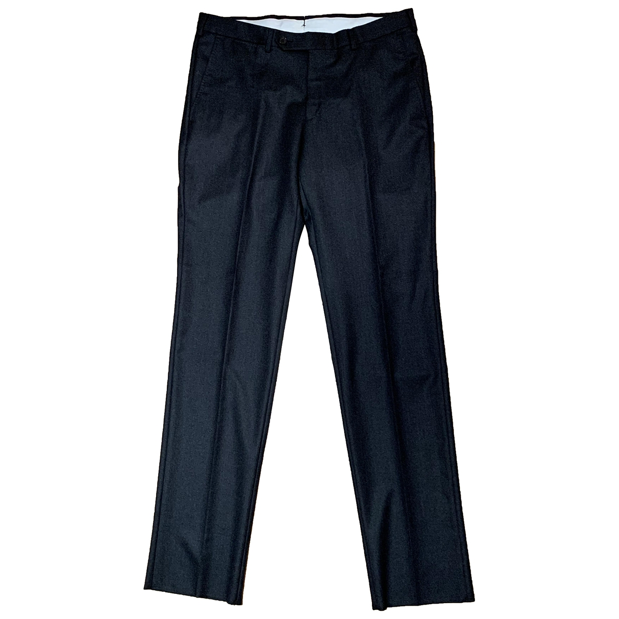 Ermenegildo Zegna \N Anthracite Wool Trousers for Men 50 IT