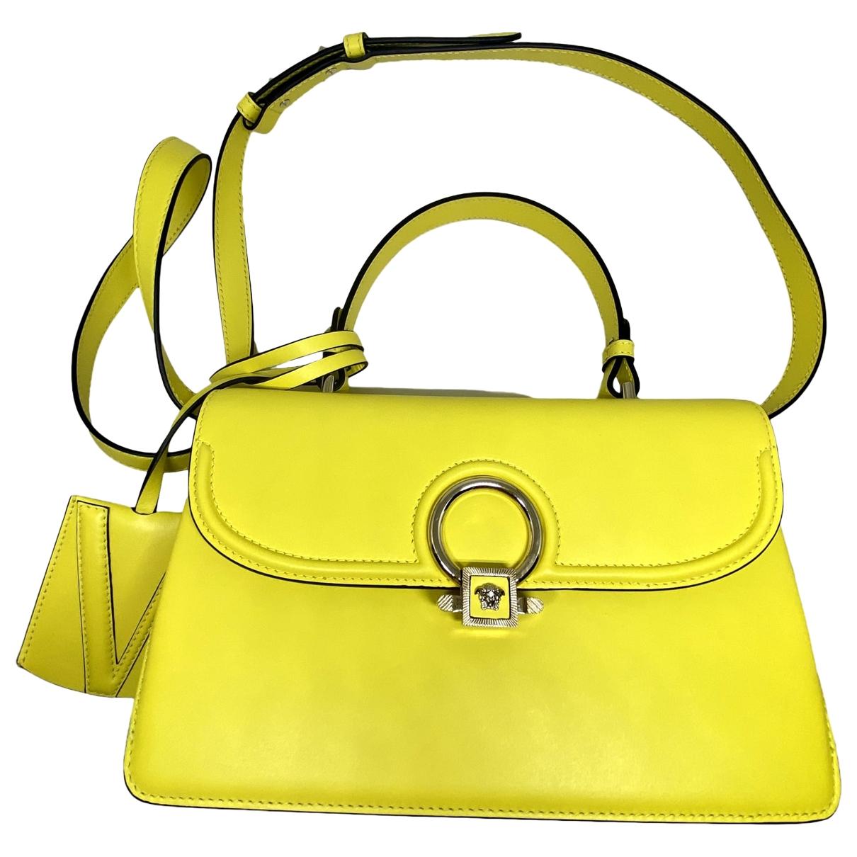 Versace DV ONE Yellow Leather handbag for Women \N