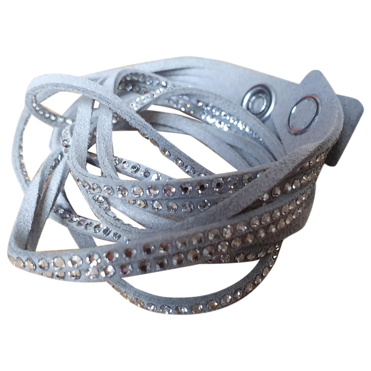 Swarovski Slake Grey Cloth bracelet for Women \N