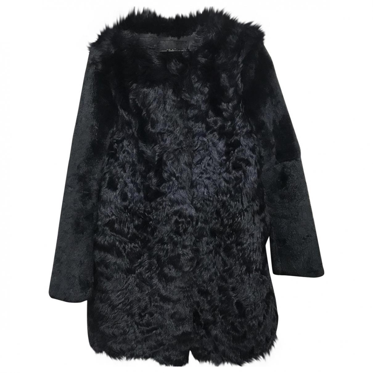 Maje \N Blue Rabbit coat for Women 38 FR