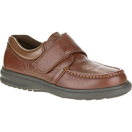 Hush Puppies Gil Mens Moc-Toe Leather Shoes, 9 Extra Wide, Brown