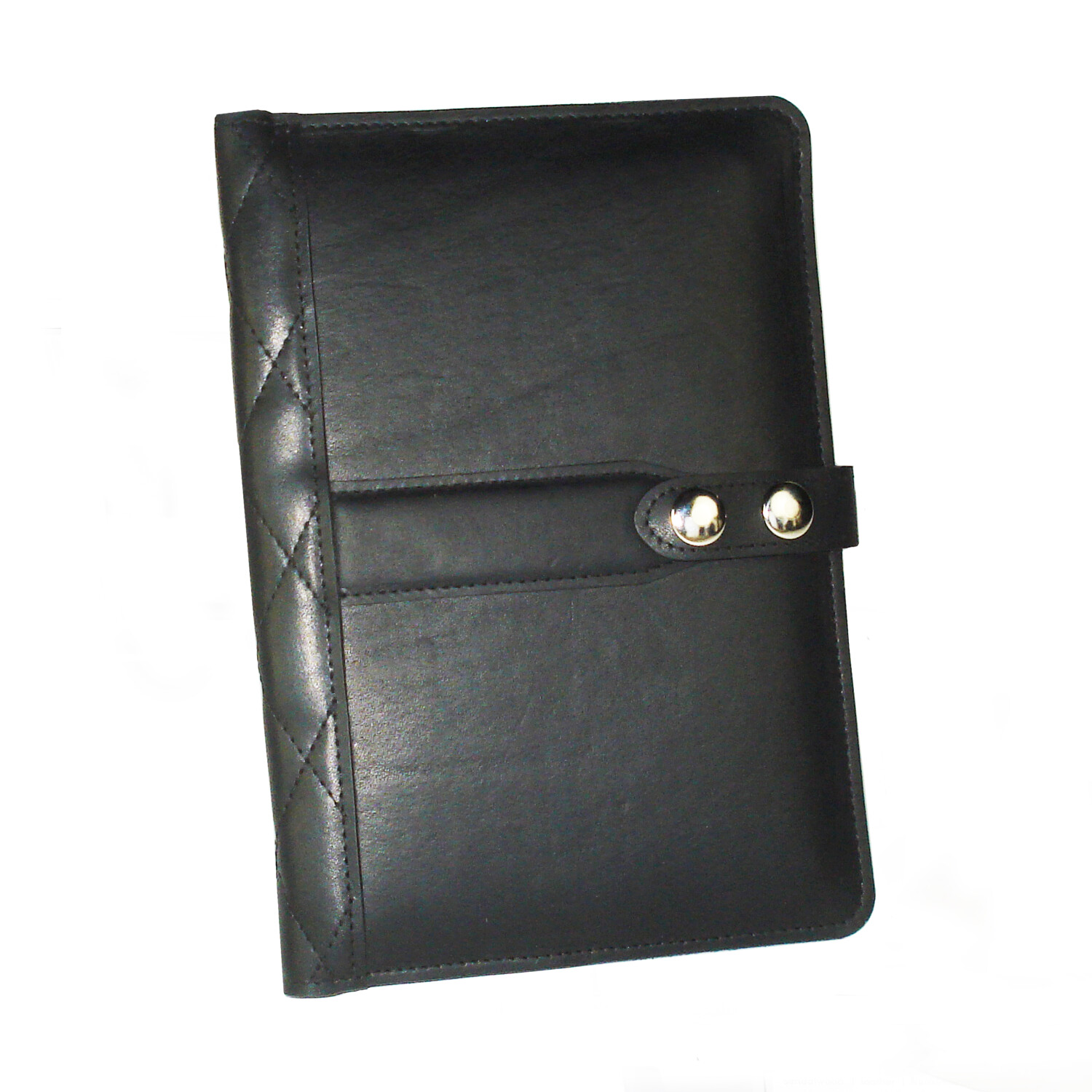 Steel Timber Leather - Small Executive Tablet Folio - Full-Grain Leather Small Portfolio Handcrafted in St. Louis - Black