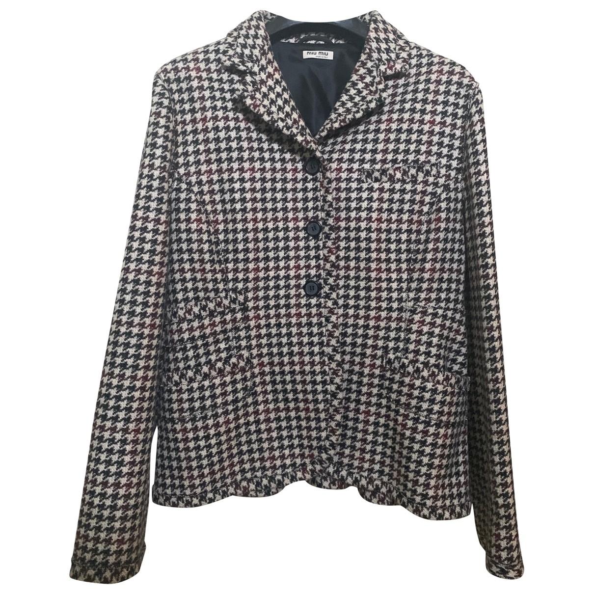 Miu Miu \N Beige Cashmere jacket for Women 44 IT