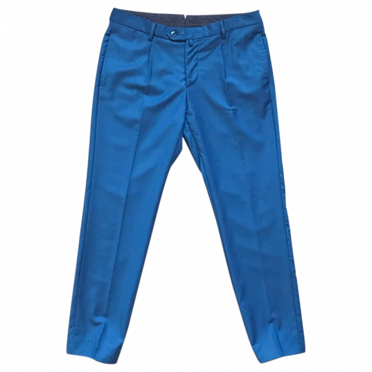Fendi \N Blue Wool Trousers for Men 52 IT