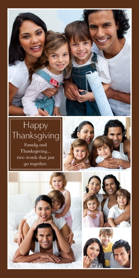 Thanksgiving Photo Cards Flat Glossy Photo Paper Cards with Envelopes, 4x8, Card & Stationery -Happy Thanksgiving Collage