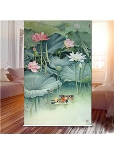 Mandarin Duck under the Water Lily 3D Printed Roller Shades