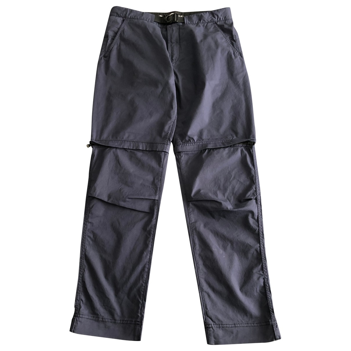 Stone Island \N Blue Cotton Trousers for Men 32 UK - US