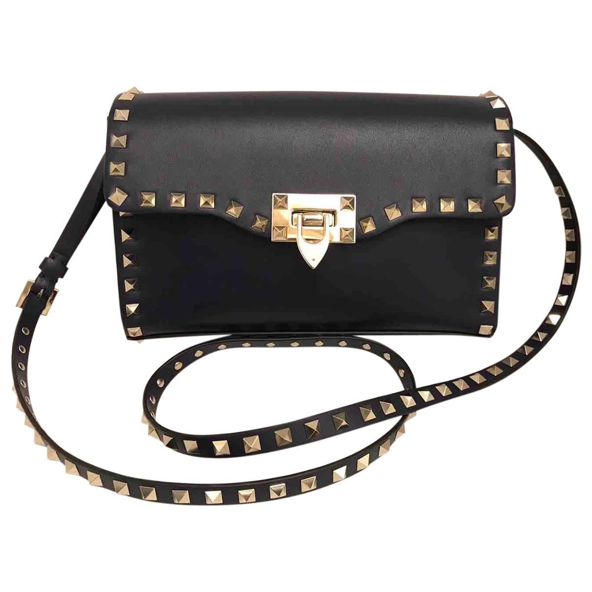 Valentino Garavani Rockstud Navy Leather handbag for Women \N