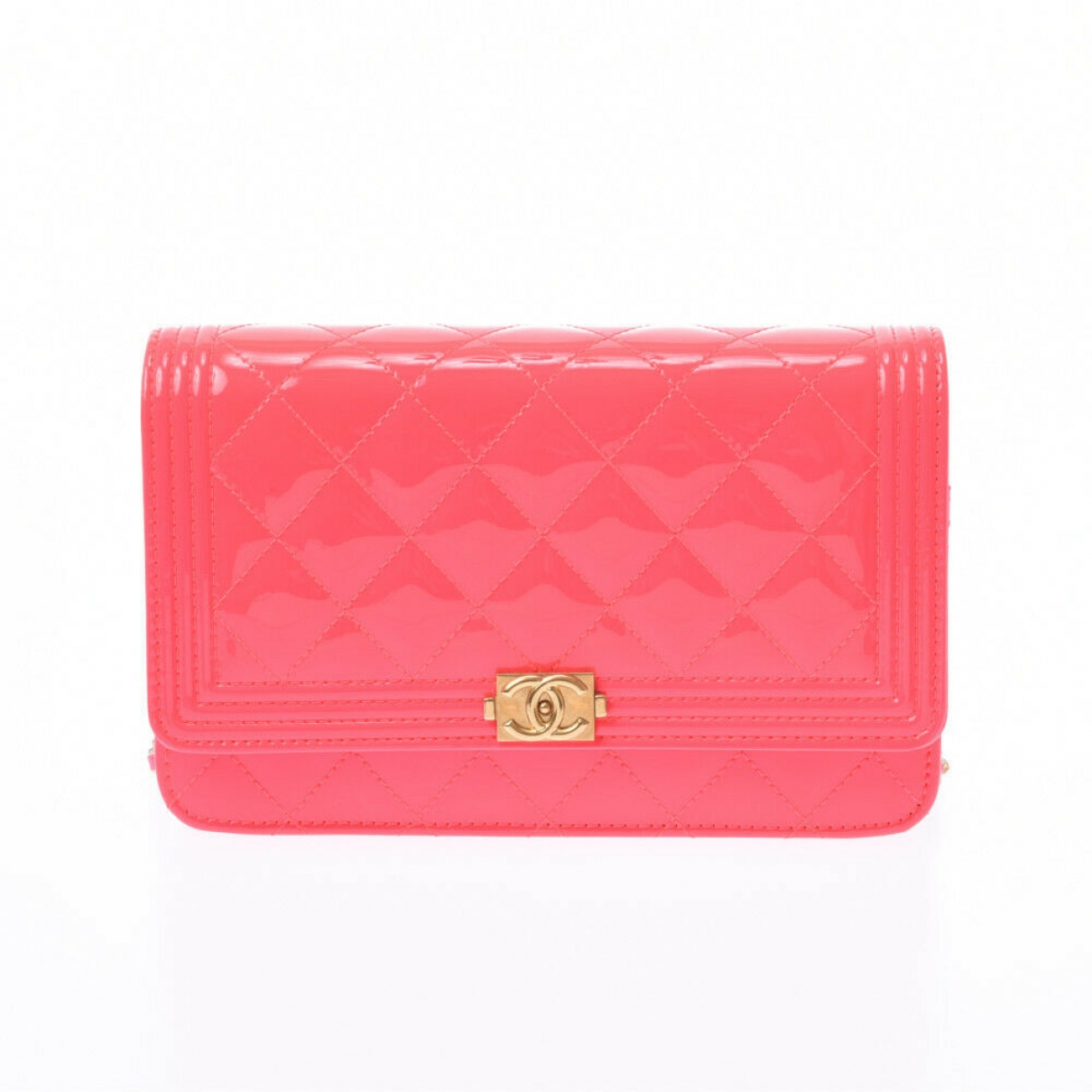 Chanel Boy Pink Patent leather Clutch bag for Women \N