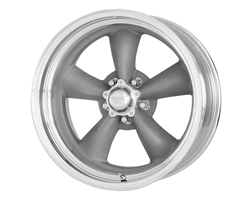 American Racing VN215 Classic Torq Thrust II 1 PC Wheel 18x7 5x5x127 +6mm Mag Gray Machined Lip