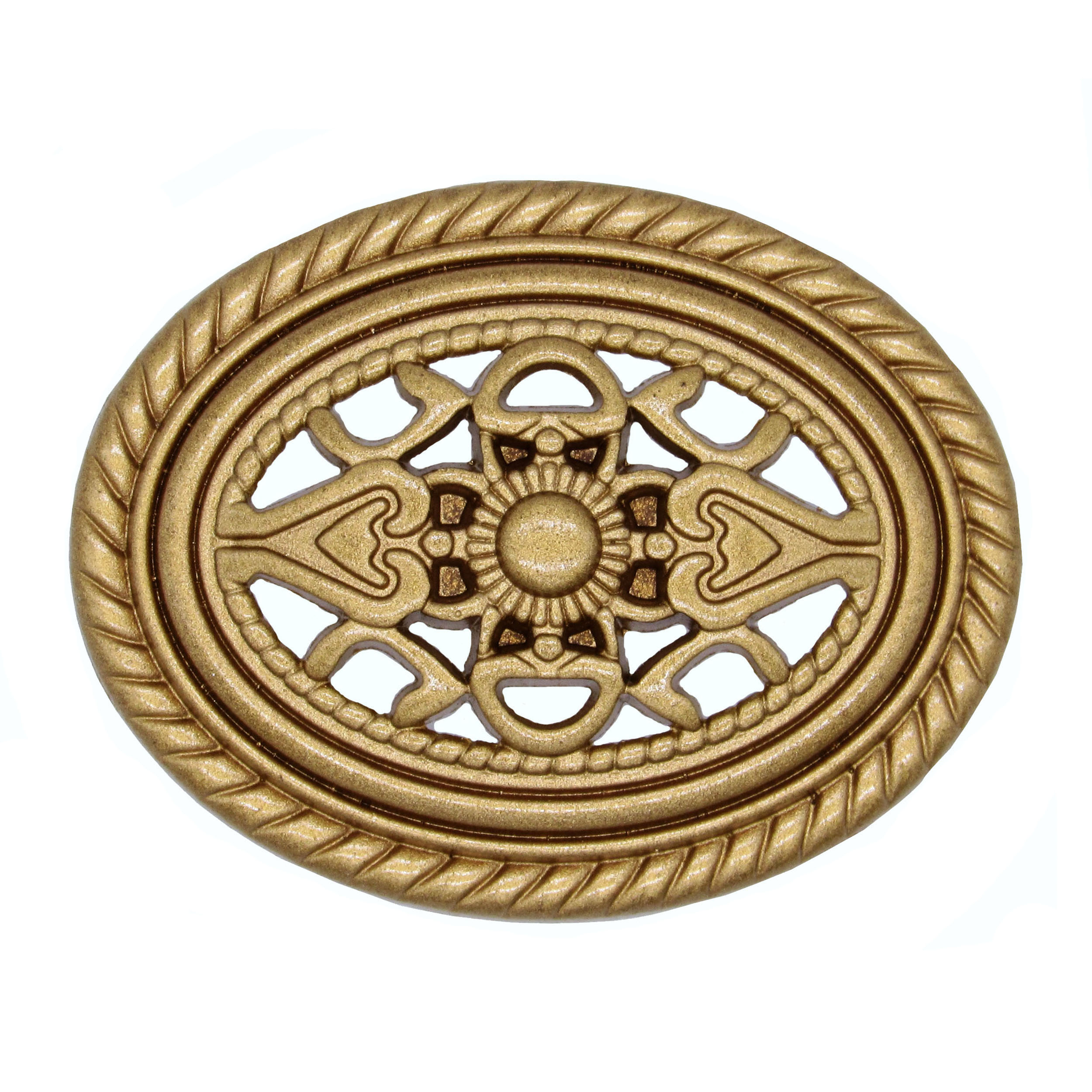 Tuscany Oval Knob, Lux Gold