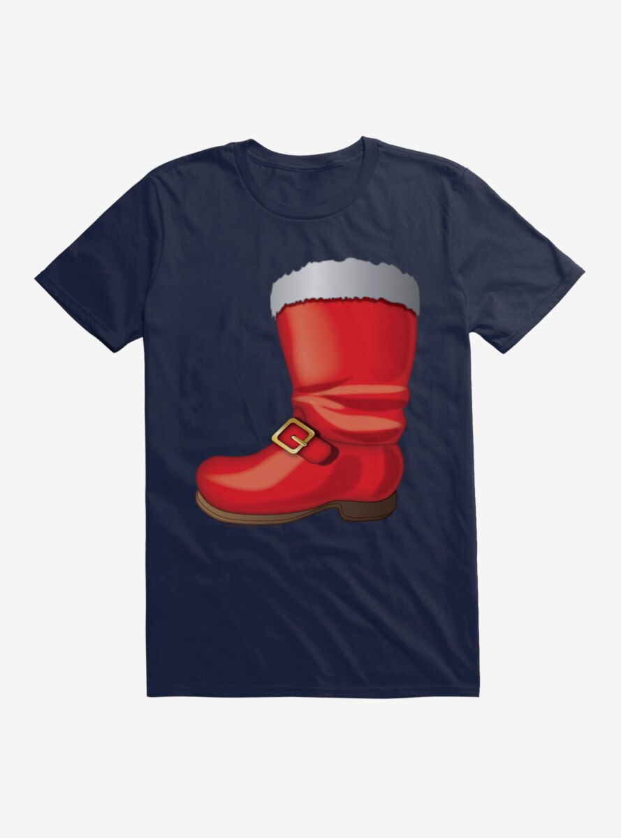 Emoji Holiday Icons Santa Boot T-Shirt