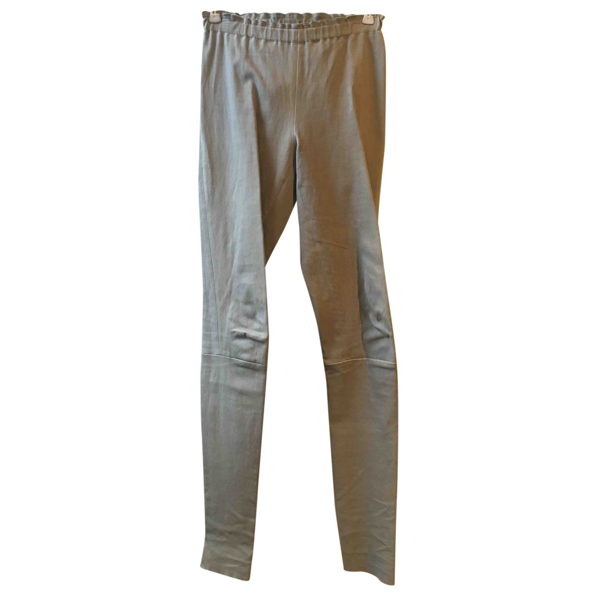 Stouls \N Beige Leather Trousers for Women S International