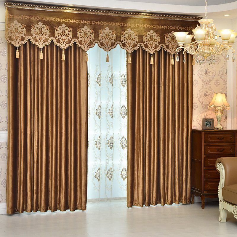Luxury Elegant Crushed Velvet Blackout Custom Ochre Curtains 2 Panel Set 84 Inches Wide and 84 Inches Long with Classy Thick Chenille Never Fading Cra