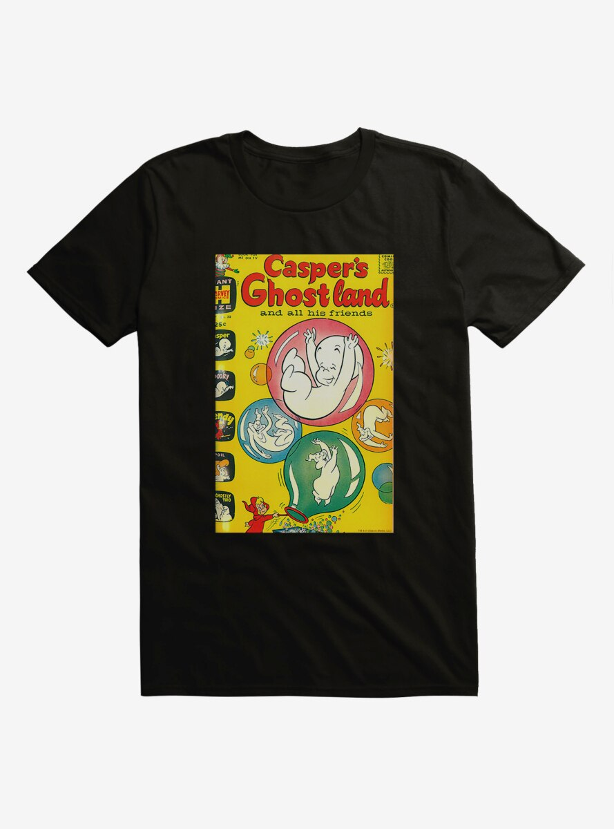 Casper The Friendly Ghost Ghostland And Friends Bubbles T-Shirt