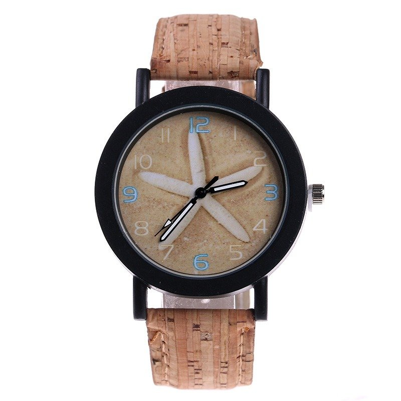 Trendy Women Quartz Watch Flower Color Leather Watch Waterproof Waist Watch For Women
