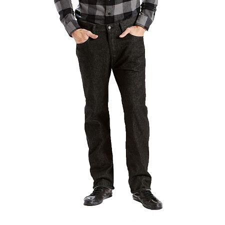 Levi's Mens Mid Rise 501 Straight Leg Jean, 32 30, Black