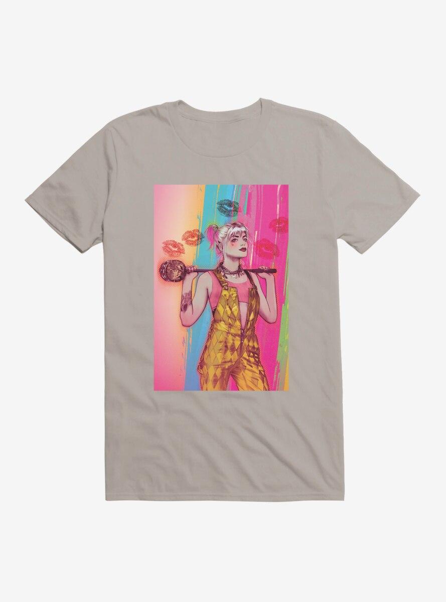DC Comics Birds Of Prey Harley Quinn Painting T-Shirt
